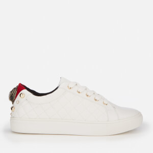Kurt Geiger London Women's Ludo Quilted Leather Low Top Trainers - White
