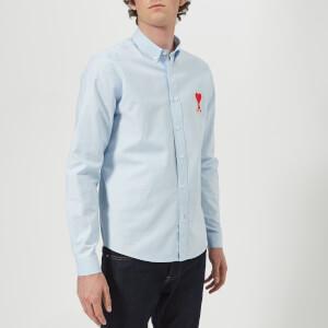 AMI Men's Chemise Col Boutonne Shirt - Sky Blue