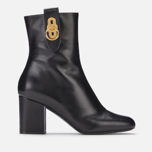 Mulberry Women's Amberley Leather Heeled Boots - Black