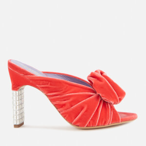 Mulberry Women's Velvet Heeled Mules - Coral
