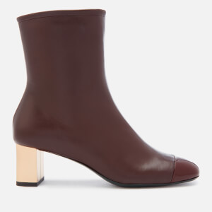 Mulberry Women's Patent Heeled Ankle Boots - Oxblood