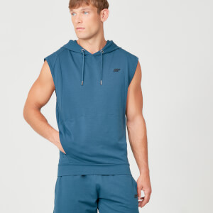 MP Form Sleeveless Hoodie - Petrol Blue