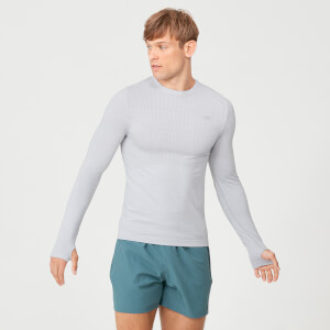 MP Men's Sculpt Seamless Long Sleeve T-Shirt - Silver
