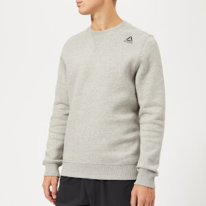 Reebok Men's Crew Neck Fleece Sweatshirt - Grey Marl