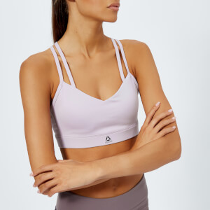 Reebok Women's Hero Strappy Bra - Lavender Luck