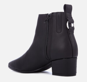 Steve Madden Women's Clover Leather Heeled Ankle Boots - Black: Image 2