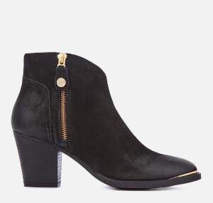 Steve Madden Women's Francy Nubuck Heeled Ankle Boots - Black