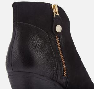 Steve Madden Women's Francy Nubuck Heeled Ankle Boots - Black: Image 4