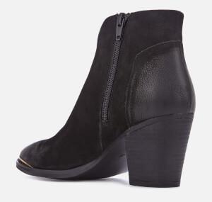 Steve Madden Women's Francy Nubuck Heeled Ankle Boots - Black: Image 2