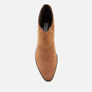 Steve Madden Women's Always Nubuck Western Ankle Boots - Camel: Image 3