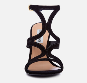 Steve Madden Women's Sidney Nubuck Heeled Sandals - Black: Image 2