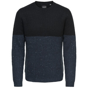 Only & Sons Men's Lazlo Nep Blocked Jumper - Black