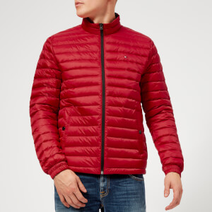 Tommy Hilfiger Men's Lightweight Packable Down Jacket - Haute Red