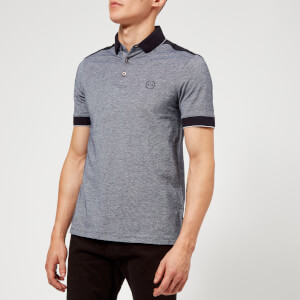 Armani Exchange Men's Panelled Slim Polo Shirt - Navy