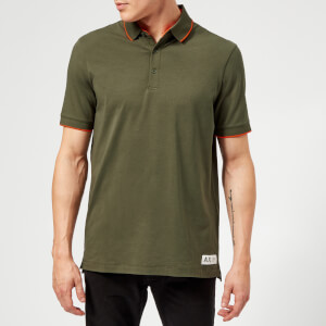 Armani Exchange Men's Back Logo Polo Shirt - Green