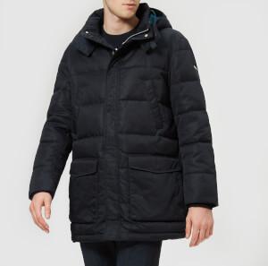 Armani Exchange Men's Down Filled Hooded Jacket - Navy