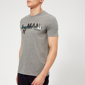 Armani Exchange Men's Metallic Logo T-Shirt - Grey