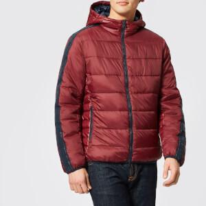 Armani Exchange Men's Padded Tape Detail Hooded Jacket - Burgundy