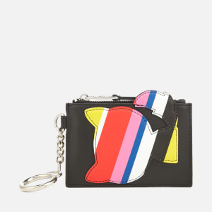 Karl Lagerfeld Women's K/Stripes Keychain Coin Purse - Multi