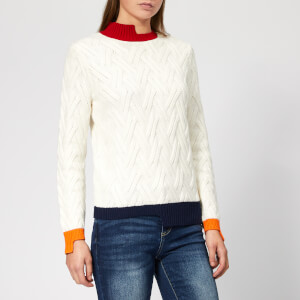 Armani Exchange Women's Knitted Pullover Jumper - Martini/Bloody/Belli