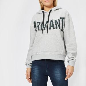Armani Exchange Women's Logo Hooded Sweatshirt - Heather Grey