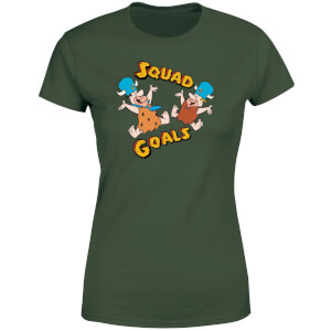 The Flintstones Squad Goals Dames T-shirt - Donkergroen