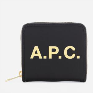 A.P.C. Women's Morgane Compact Wallet - Black