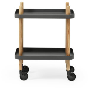 Normann Copenhagen Block Table Trolley - Dark Grey