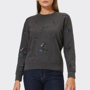 Barbour Heritage Women's Evelyn Embroidered Sweatshirt - Charcoal