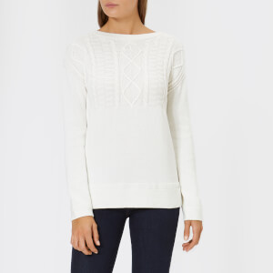 Barbour Women's Weymouth Knit Jumper - Off White