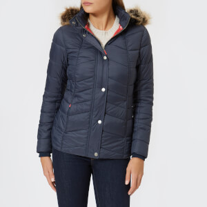 Barbour Women's Bernera Quilt Jacket - Navy/Reef Red