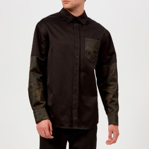 Helmut Lang Men's Camo Oversized Shirt Jacket - Black