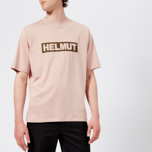 Helmut Lang Men's Helmut Box Logo T-Shirt - Desert Rose