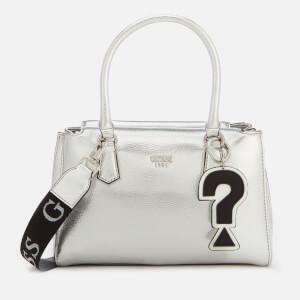 Guess Women's Felix Silver Tote Bag - Silver