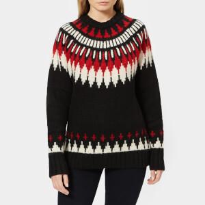 Polo Ralph Lauren Women's Multi Jacquard Knit Jumper - Black