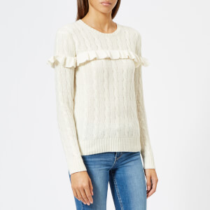 Polo Ralph Lauren Women's Fine Knit Frill Jumper - Cream
