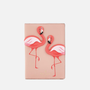 Kate Spade New York Women's Flamingo Passport Holder - Multi
