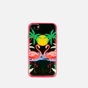 Kate Spade New York Women's Jewelled Flamingos iPhone 8 Cover - Clear/Multi