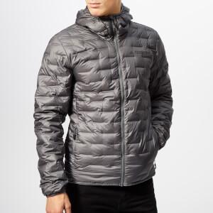 adidas Men's Terrex Light Down Hooded Jacket - Grey Five
