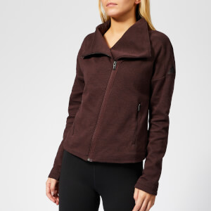 adidas Women's Full Zip Heartracer Jacket - Night Red