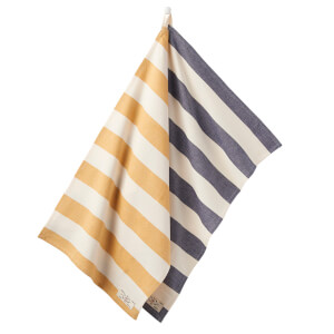 Joules Tea Towels - Navy/Gold Stripe (Set of 2)