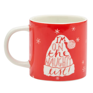 Joules Single Porcelain Mug - Naughty List