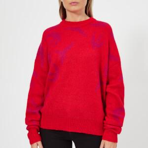 McQ Alexander McQueen Women's Swallow Swarm Crew Sweatshirt - Riot Red/Acid Pink