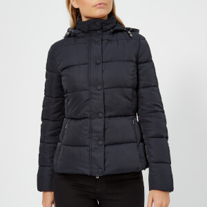 Emporio Armani Women's Short Hooded Puffa Jacket - Navy