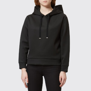 Emporio Armani Women's Hooded Jumper with Logo on The Hood - Black