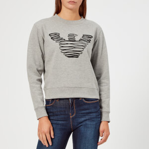 Emporio Armani Women's Eagle Sweatshirt - Grey
