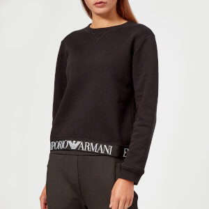 Emporio Armani Women's Logo Bottom Trim Sweatshirt - Black