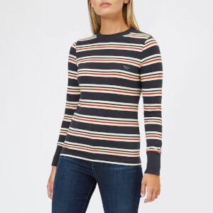 Maison Kitsuné Women's Long Sleeve Stripes T-Shirt - Multicolor Stripes