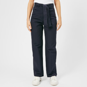 Maison Kitsuné Women's Canvas Sun Wide Leg Pants - Anthracite