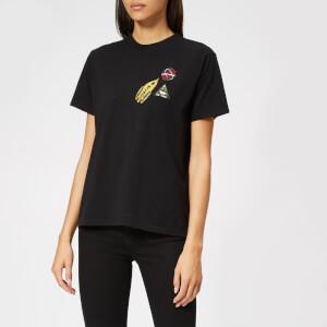 Maison Kitsuné Women's Astronaut Patch T-Shirt - Black